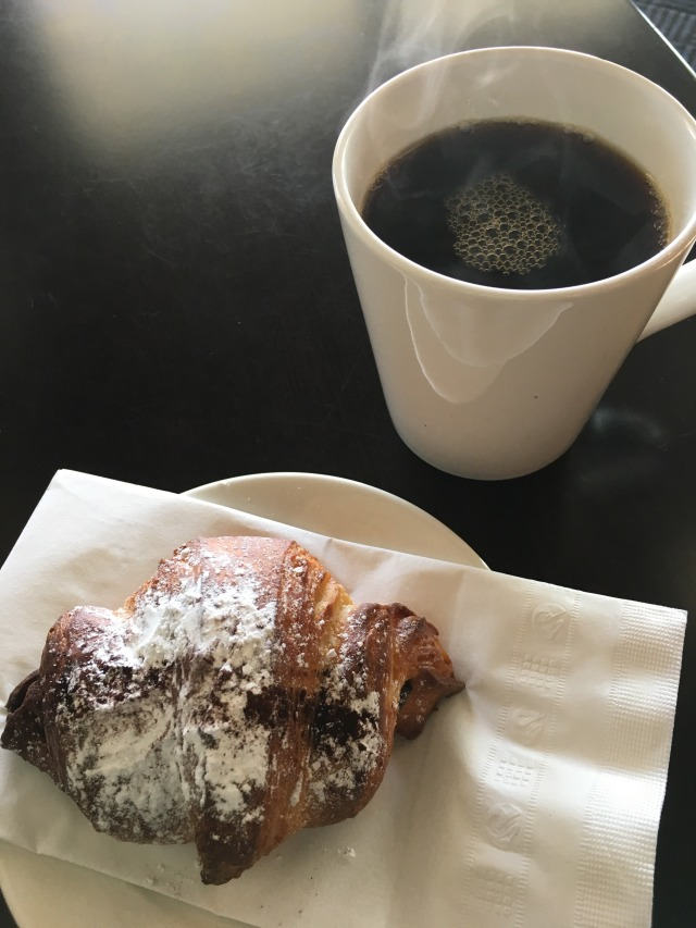 My fav:  Coffee and Chocolate Croissant!